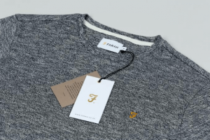 Brand Label attached T-shirt